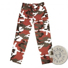 "PANTALON CARGO ""BDU REFUERZOS"" CAMO RED"