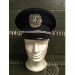 GORRA PLATO OFICIAL POLICIA UCRANIANA USADA/PIEZA UNICA