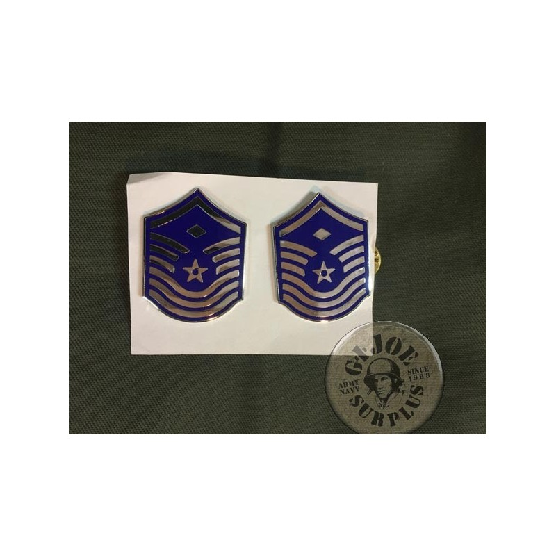 "USAF METAL RANKS ""MASTER SERGEANT"" GENUINE"