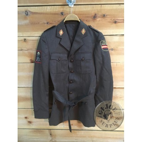 "SPANISH POLICE ""NATIONAL POLICE "" BROWN UNIFORM JACKET AS NEW /COLLECTORS ITEM"