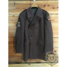 "SPANISH POLICE ""NATIONAL POLICE "" BROWN UNIFORM OVERCOAT AS NEW /COLLECTORS ITEM"