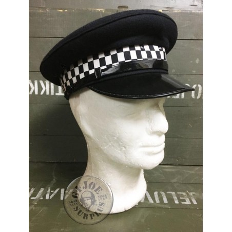 BRITISH METROPOLITAN POLICE OFFICERS CAPS USED CONDITION