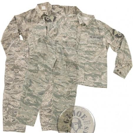 US AIR FORCE ABU DIGITAL CAMO UNIFORM SET USED /TROUSERS+JACKET