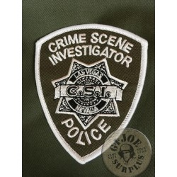 "US POLICE REPRODUCTION PATCHES ""LAS VEGAS POLICE CSI"""