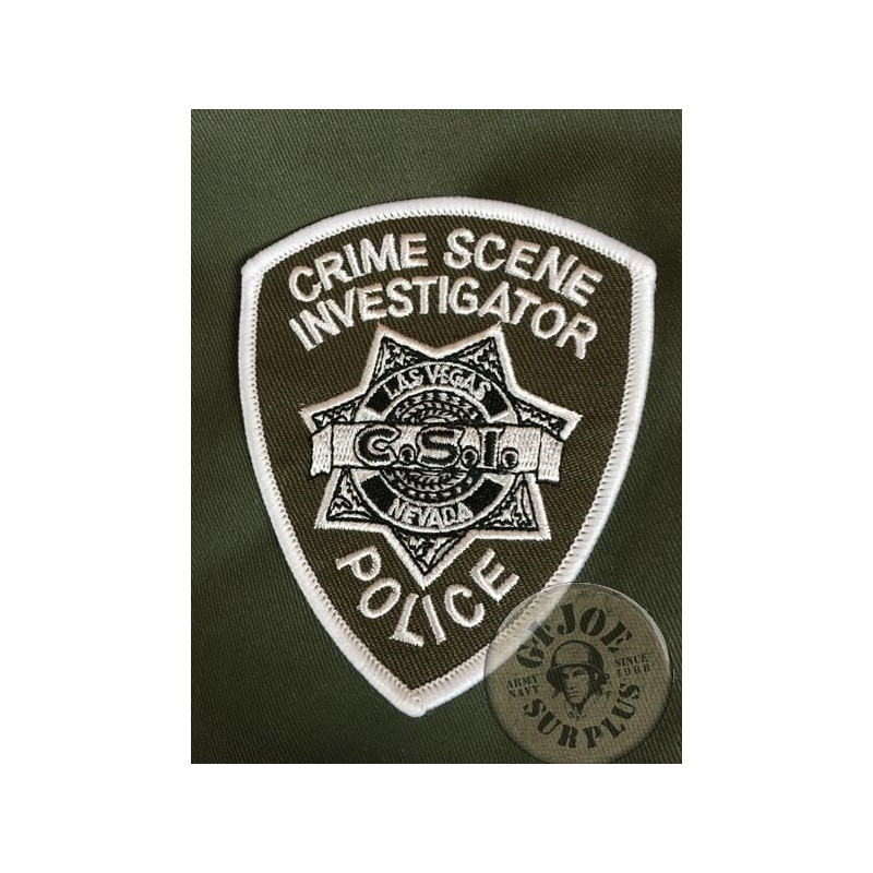 """US POLICE REPRODUCTION PATCHES """"LAS VEGAS POLICE CSI"""""""