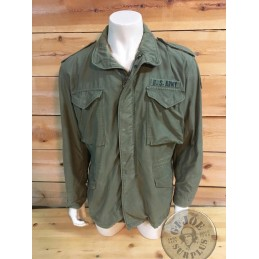 "CHAQUETA M65 VERDE ""US ARMY 1a DIVISION BLINDADA"" LARGE REGULAR CON FORRO / PIEZA ÚNICA"