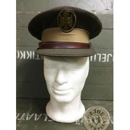"SPANISH POLICE ""NATIONAL POLICE "" BROWN UNIFORM OFFICERS CAP AS NEW /COLLECTORS ITEM"