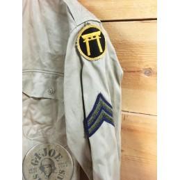 "KHAKI UNIFORM L/S SHIRT ""1965 OKINAWA US ARMY"" /COLLECTORS ITEM"