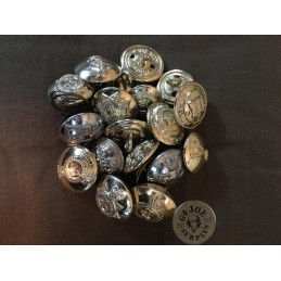 BRTISH ARMY UNITS METAL BUTTONS X 10 PIECES