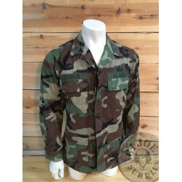 BDU WOODLAND RIPSTOP COMBAT JACKET OF A US NAVY EXPOLISVES EXPERT SIZE MEDIUM LONG /UNIQUE PIECE