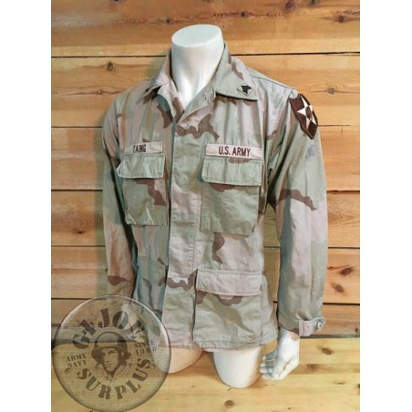 XJAQUETA BDU DESERT 3 COLORES US ARMY INDIAN HEAD /PEÇA UNICA