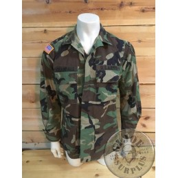 US ARMY PSY OPERATIONS WOODLAND BDU JACKET /UNIQUE PIECE