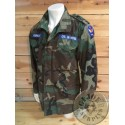 "M65 WOODLAND CAMO JACKET ""US CIVIL AIR PATROL NEW JERSEY"" SMALL LONG /UNIQUE PIECE"