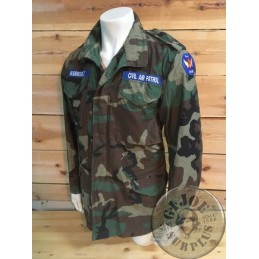 "CHAQUETA M65 US CIVIL AIR PATROL WOODLAND ""NEW JERSEY"" SMALL LONG /PIEZA UNICA"