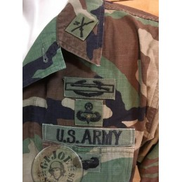 US ARMY 82AB DIVISION MAJOR RIPSTOP WOODLAND BDU JACKET /UNIQUE PIECE
