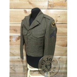 """COLLECTORS ITEM /IKE JM1950ACKET US ARMY KOREA """"4TH ARMOURED DIVISION"""""""