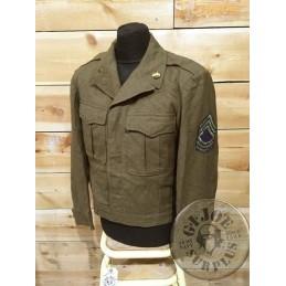 "CHAQUETA DE TROPA ""IKE"" US ARMY WWII ""MASTER SERGEANT 1st GRADE INGENIEROS"" TALLA 38R / PIEZA ÚNICA"