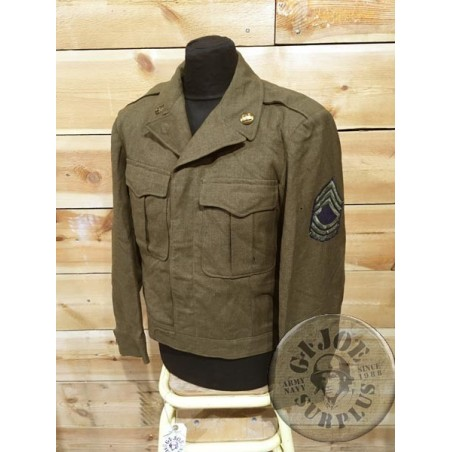 "IKE JACKET US ARMY WWII ""ENGINEERS MASTER SERGEANT FIRST GRADE /COLLECTORS ITEM"""