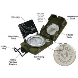 ITALIAN ARMY  COMPASS ARMY SURPLUS AS NEW WORKING CONDITION