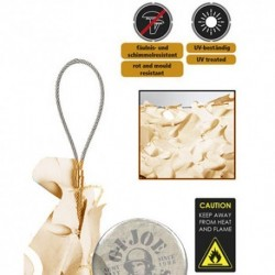 """RED 75% SOMBRA 3X3M """"CABLE CAMO SYSTEMS"""" KHAKI (9m2)"""