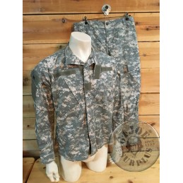 US ARMY ACU AT DIGITAL CAMO UNIFORM SET USED /TROUSERS+JACKET
