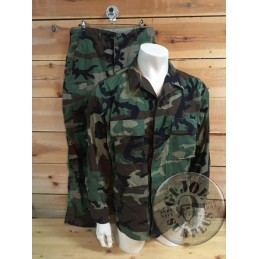 US ARMY BDU WOODLAND RIPSTOP SET TROUSERS+JACKET NEW