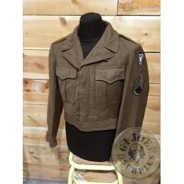 "CHAQUETA DE TROPA ""IKE WWII"" US ARMY 24th CORPS 2GM TALLA 36R / PIEZA ÚNICA"