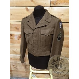 "US WWII IKE JACKET ""24TH CORPS"" 36R /COLLECTORS ITEM"