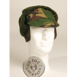 DUTCH ARMY WINTER CAP DPM CAMO USED CONDITION