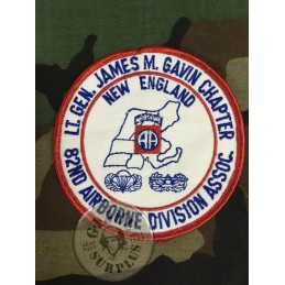"US ARMY PATCH ""82AB AIRBORNE DIVISION ALL AMERICANS JAMES GAVIN ASSOCIATION"" /COLLECTORS ITEM"