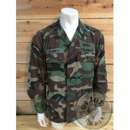 US NAVY PATROL SQUADRON SPEIAL FORCES WOODLAND BDU JACKET MEDIUM REGULAR/UNIQUE PIECE