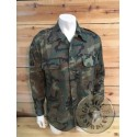 SPANISH ARMY WOODLAND COTTON CAMO FIELD JACKETS NEW AS NEW