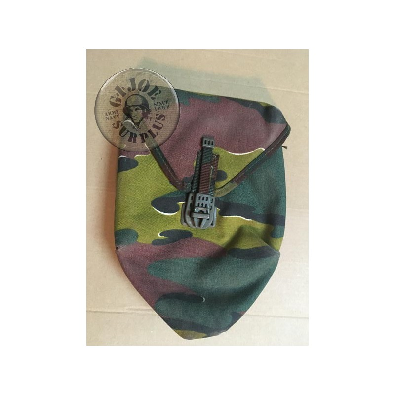 BELGIUM ARMY CAMO JIGSAW TRIFOLD SHOVELS POUCH USED