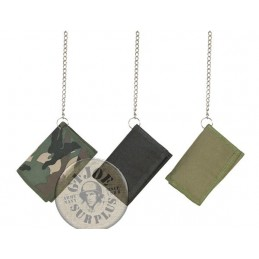 WALLET WITH CHAIN WOODLAND CAMO