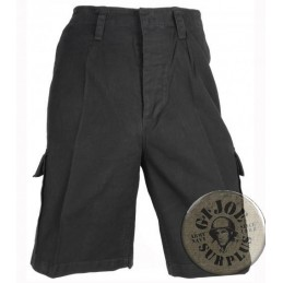GERMAN COMANDO STONEWASHED SHORTS BLACK COLOUR