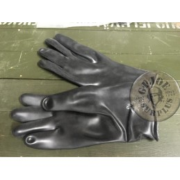 NBC PROTECTION RUBBER GLOVES BELGIUM ARMY  NEW CONDITION