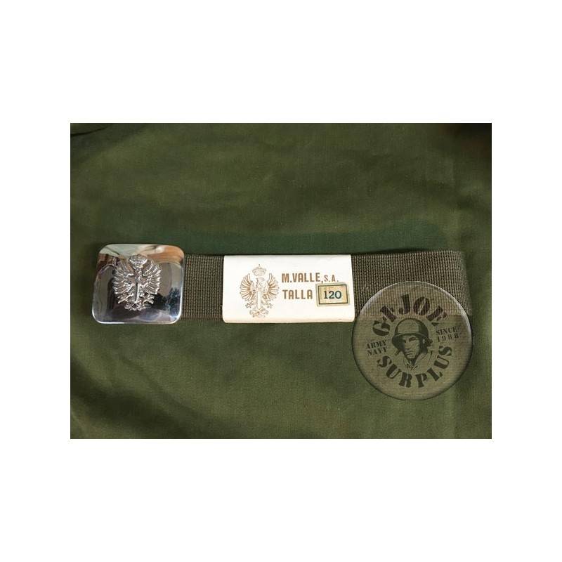 SPANISH ARMY TROUSERS BELT WITH EAGLE BADGE NEW