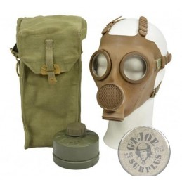 "BELGIUM ARMY GAS MASK SET ""GIAT"" AS NEW"