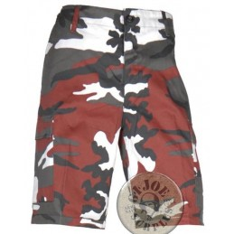 BDU CARGO SHORTS RED CAMO