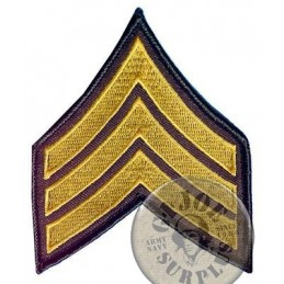 "US ARMY ""SERGEANT"" RANK PATCH MADE IN USA"