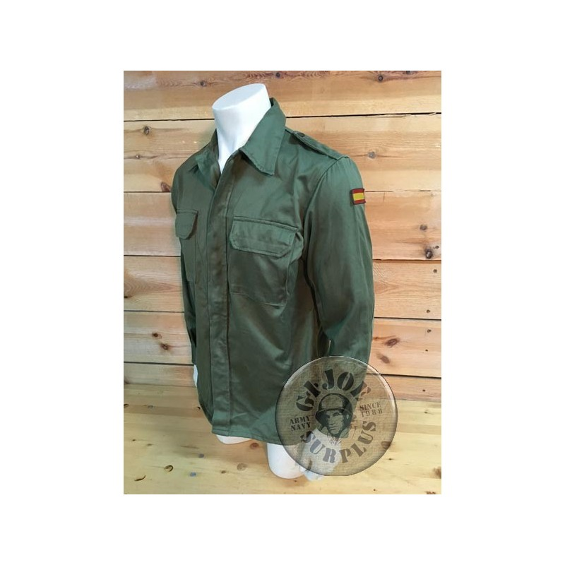 SPANISH ARMY OLIVE GREEN UNIFORM COMBAT JACKET AS NEW CONDITION