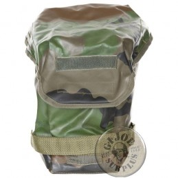 FRENCH ARMY CEE CAMO GAS MASK TRANSPORT BAG USED CONDITION