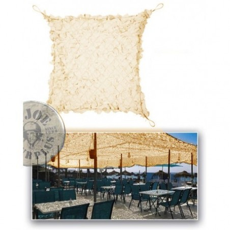 CAMOUFLAGE NET 4X4M 75% SHADE CAMOSYSTEMS PREMIUM WITH WIRE FRAME/KHAKI COLOUR