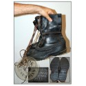 "BOTES FRED ""US ARMY WWII SHOE PACK"" DATADES 1944 /PEÇA UNICA"