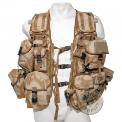 "BRITISH ARMY ""LOAD CARRYING"" TACTCAL VEST DESERT DPM CAMO+13 POUCHES NEW"