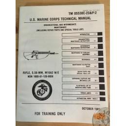 MANUAL DE USO y CUIDADO DEL FUSIL M16 DEL USMC  EDICION DE 1983 NUEVOS