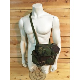 BRITISH ARMY GAS MASK SIDEPACK DPM CAMO AS NEW CONDITION