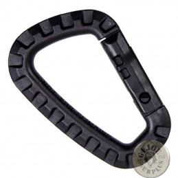 TACTICAL PVC CARABINER BLACK COLOUR