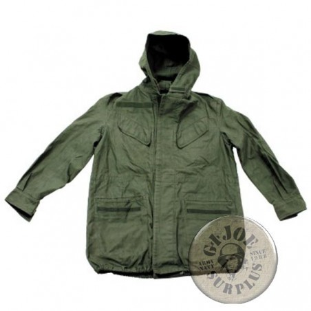 BELGIUM ARMY M1964 OLIVE GREEN PARKA USED