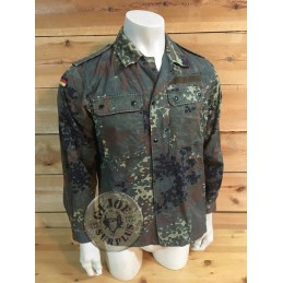 GERMAN ARMY FLECKTARN CAMO TRPEN/TROPICAL UNIFORM JACKET USED